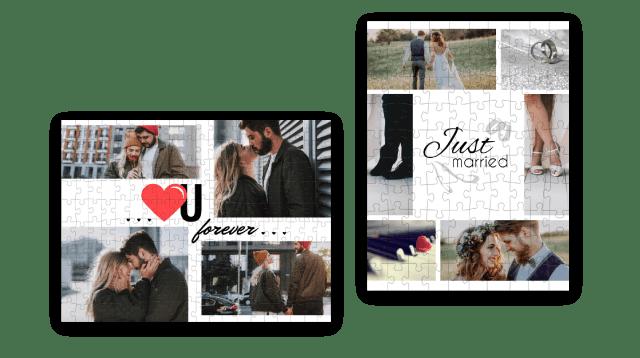 Zeigen Sie Ihre Liebe mit einer Fotopuzzle-Collage