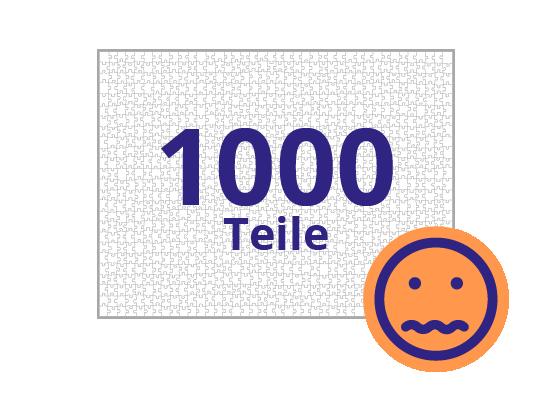 Persönliches Gutschein-Puzzle 1000 Teile