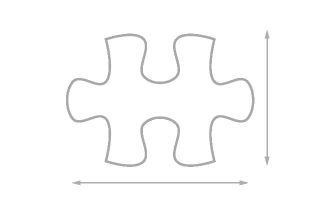 Größe der Puzzleteile