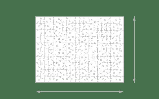 Gelegte Größe 200 Teile Puzzle