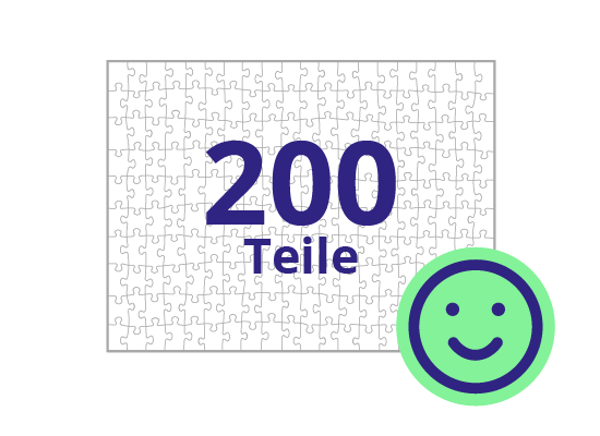 Persönliches Gutschein-Puzzle 200 Teile