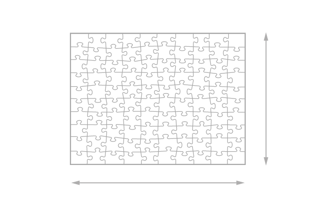 Gelegte Größe 100 Teile Puzzle