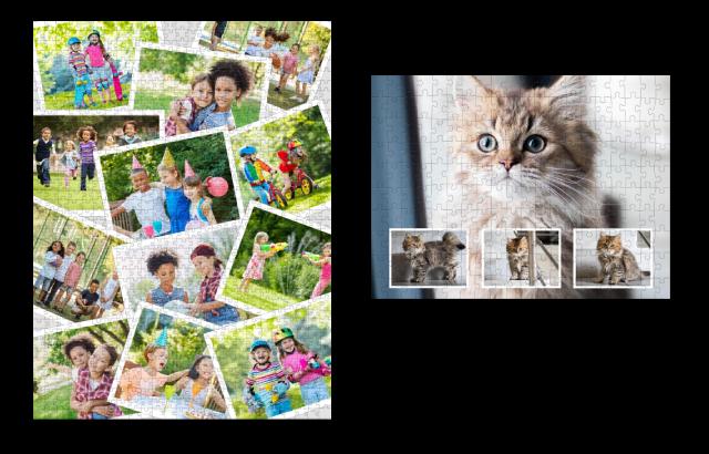 Die Fotopuzzle-Collage als Geschenk