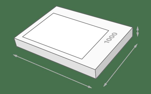 Schachtelgröße 1000 Teile Puzzle