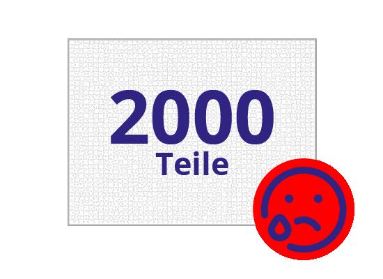 Persönliches Gutschein-Puzzle 2000 Teile