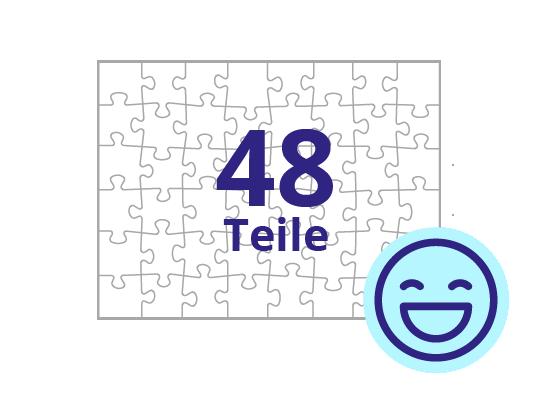 Persönliches Gutschein-Puzzle 48 Teile