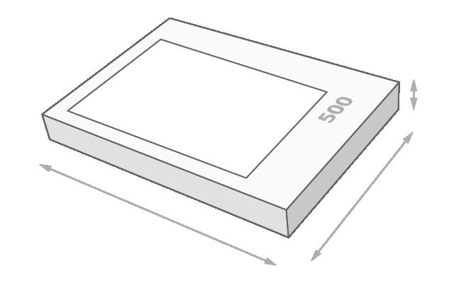 Schachtelgröße 500 Teile Puzzle