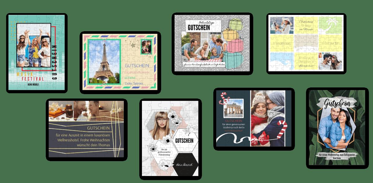 Wunderschöne kreative Layouts für Ihr Gutschein-Puzzle