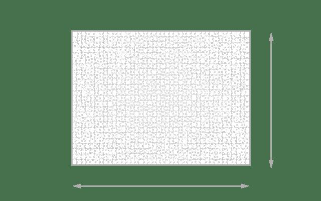 Gelegte Größe 1000 Teile Puzzle