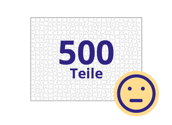 Persönliches Gutschein-Puzzle 500 Teile