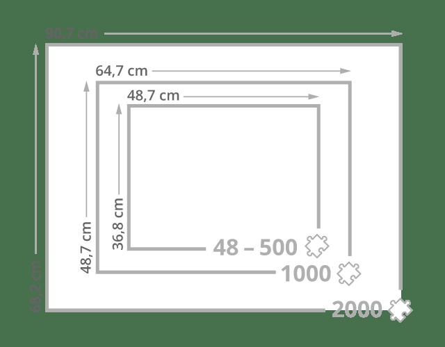 Größe der Puzzle-Rahmen