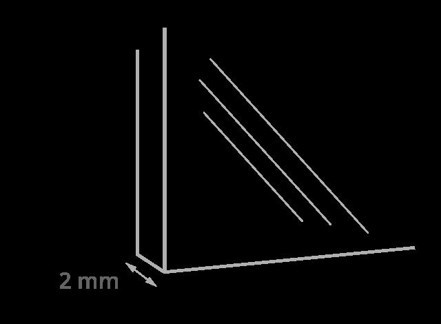 Glasdicke des Puzzle-Rahmens