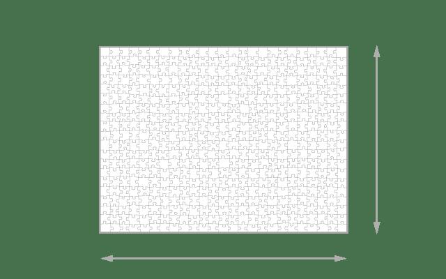 Gelegte Größe 500 Teile Puzzle