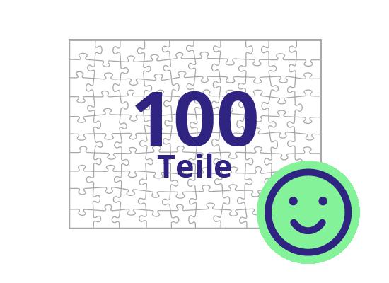 Persönliches Gutschein-Puzzle 100 Teile